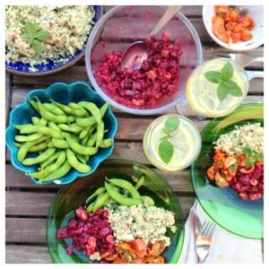 rawfood, vegetarisk middag
