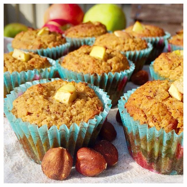 äppelmuffins med hasselnötsmjöl och kardemumma. paleo, glutenfritt 3