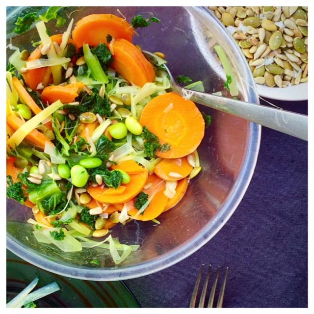 morot, grönkål och purjo