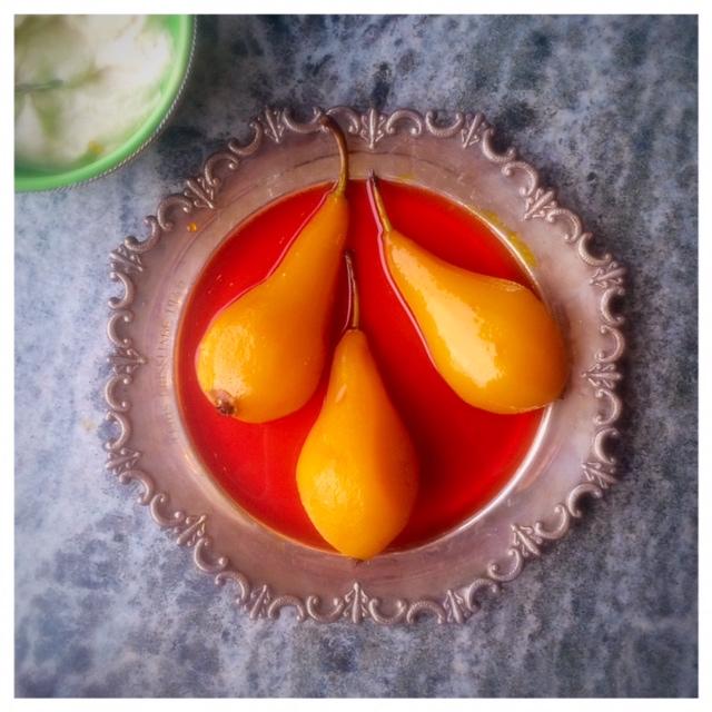 saffranspäron med cashewgrädde sockerfritt