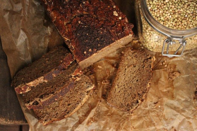 groddat bovetebröd / sprouted buckwheat bread