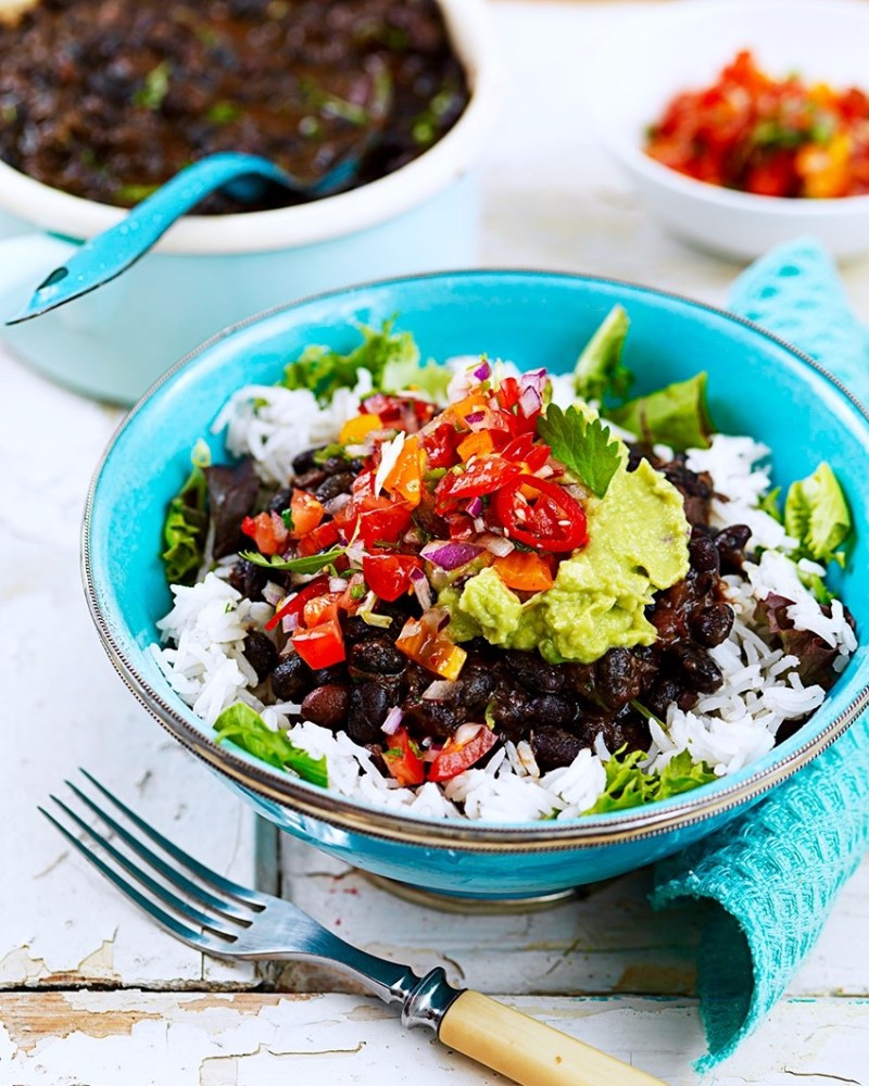 burrito bowl med mexican black means