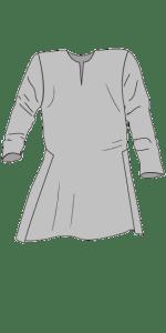 Linen shirt with Viborg splitts. Linskjorte med Viborgsplitter i siden.