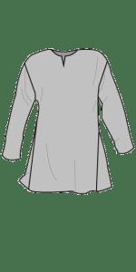 Linen shirt primary cut. Linskjorte primærsnitt.