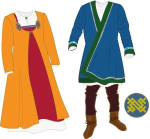Viking outfit. Vikingdrakter.