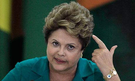 Dilma Rousseff: 'Do I look happy, Mr Obama?'