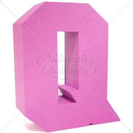 Letra Quadrada 3D Q