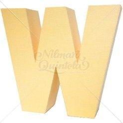 Letra Quadrada 3D W