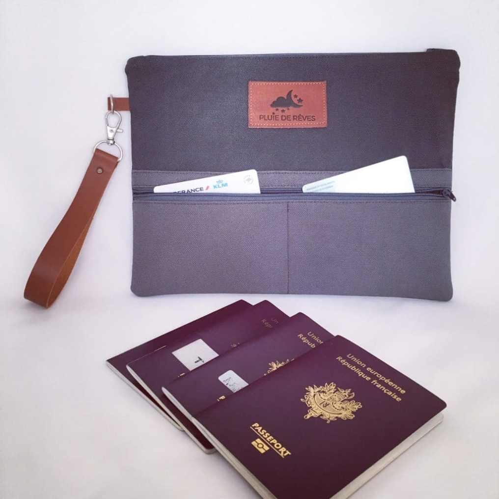 pochette passeport personnalisée pochette voyage personnalisée
