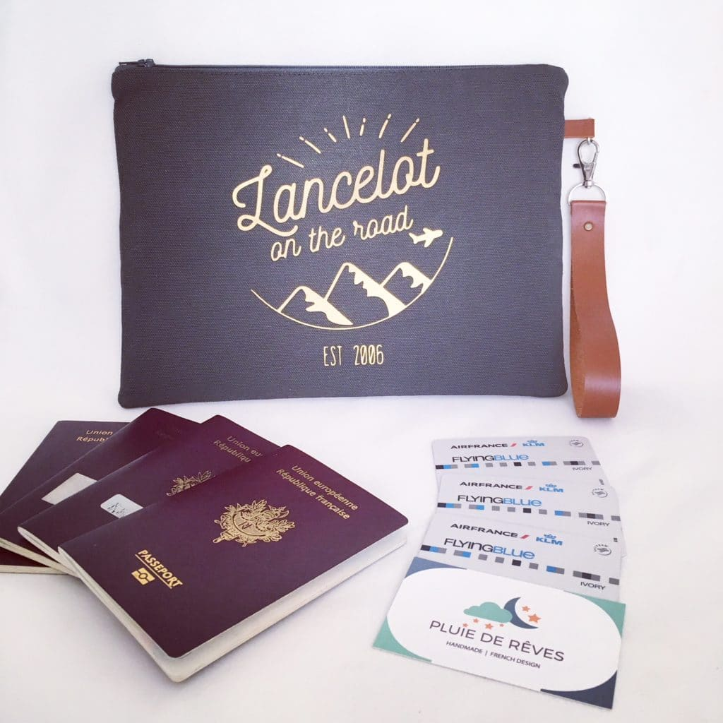customisable travel pouch
