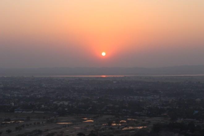 Mandalay, coucher de soleil