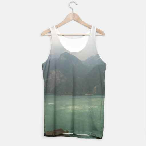 Tank Top with a swiss lake and some mountains