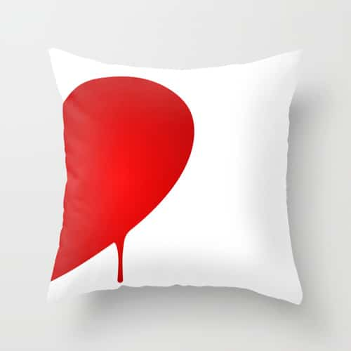 Half Heart Pillow