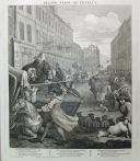 """ויליאם הוגארת (1697 – 1764), אמן אנגלי, פרסם בשנת 1751 סדרה של ארבעה תחריטים הנקראים 'ארבעת השלבים של האכזריות' היוצאים נגד התעללות בבע""""ח."""