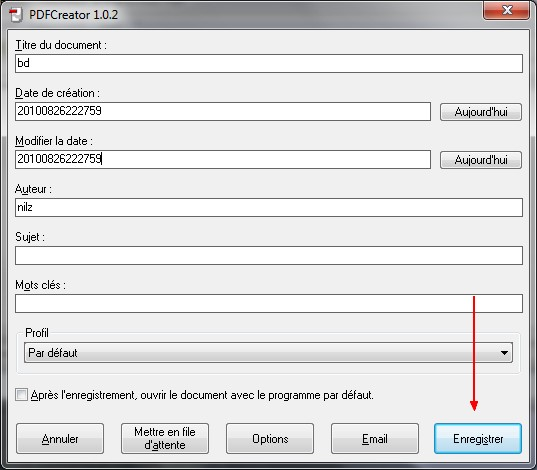 pdf creator 2.0 fusionner