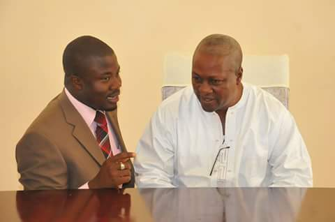 The new mouth piece of Ayawaso North Hon Yussif Jajah seeking advice from his Uncle . His Eminent the first Gentle of the Republic of Ghana President John Mahama