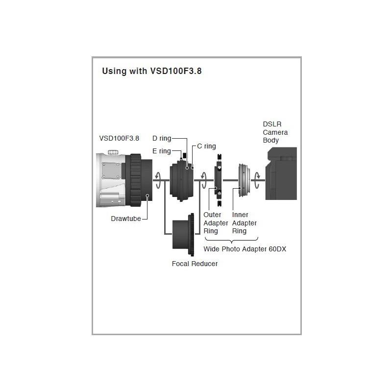 Vixen Wide Photo Adapter 60DX for Canon EOS