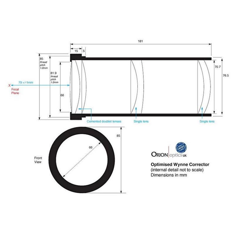 Orion Optics UK Telescope N 250/950 AG10 Carbon Astrograph OTA
