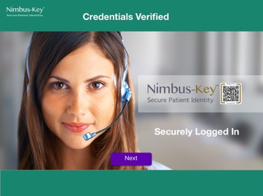 securely logged in