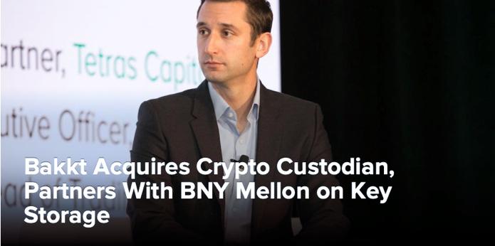 Bakkt Acquires Crypto Custodian, Partners With BNY Mellon on Key Storage