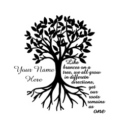 Predesigned Banner (Customizable): Family Tree With Roots