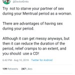 Sex during menstrual period