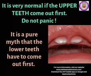 Baby Upper Teeth First Myth