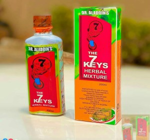 What is 7 keys herbal mixture used for (Measles, Chickenpox, Rashes)