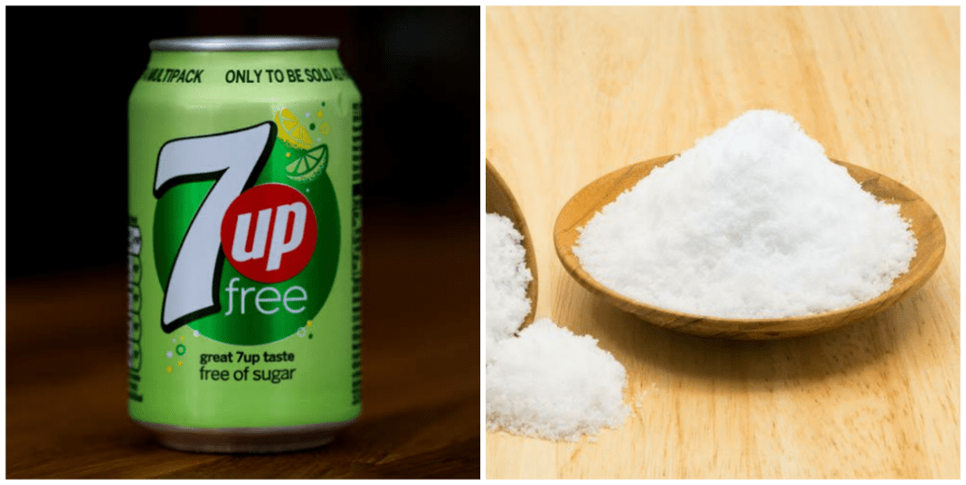 What does 7up and salt do in the body