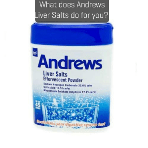 What does Andrews Liver Salts do for you?