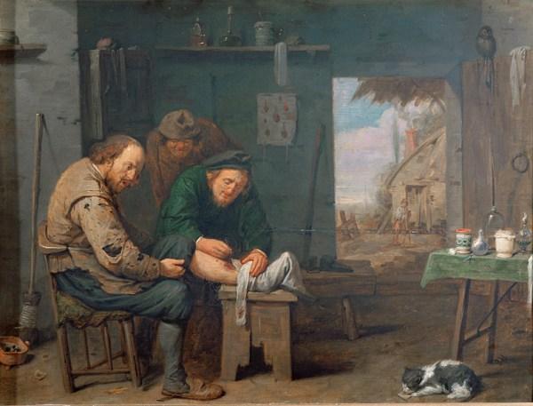 Le Chirurgien par David Ryckaert III en 1638