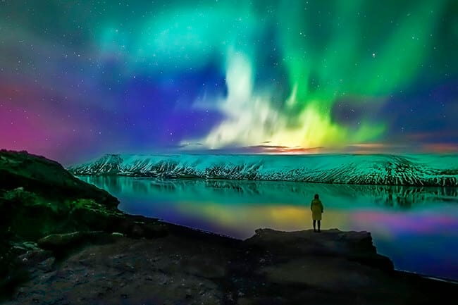 the northern lights are