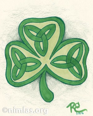 Daily Creativity: A Shamrock for St Paddy's Day!