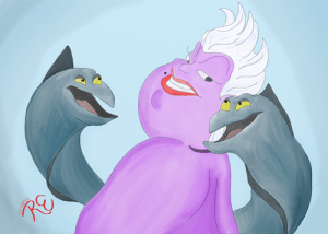 Ursula watercolor painting