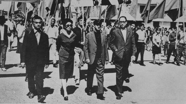 ببرک کارمل و آناهیتا راتب زاد در کنارهم ایستادند و جنبش چپ را یک جریان حامی زنان معرفی کردند.