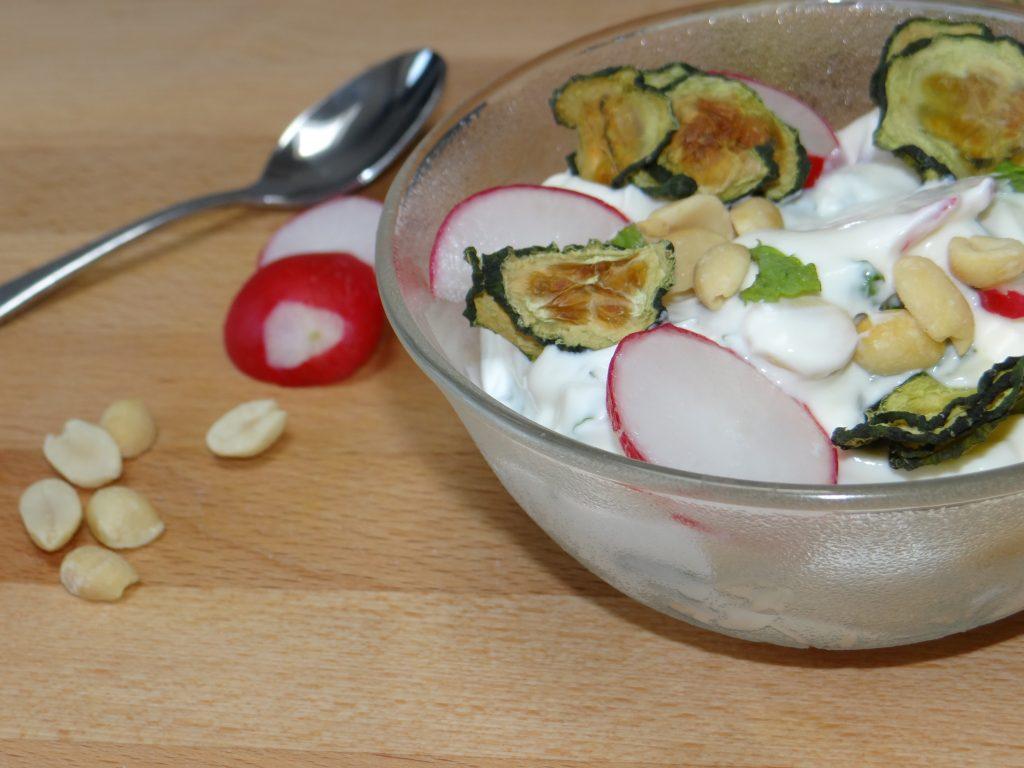 Nim's Raita recipe using Cucumber Crisps