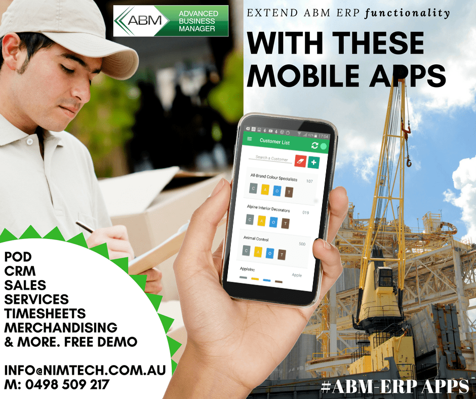 ABM ERP Mobile Apps Nimtech Solutions Extend Your System