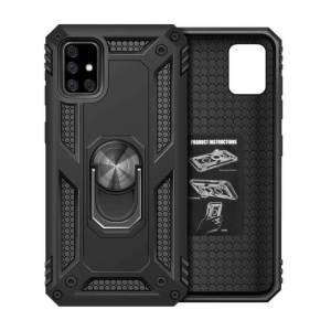 Samsung Galaxy Magnetic Armour Military Ring Kickstand Holder Phone Case Cover. Models: For A12, A21S, A31, A10S, A32, A02S, A71, A50, A51