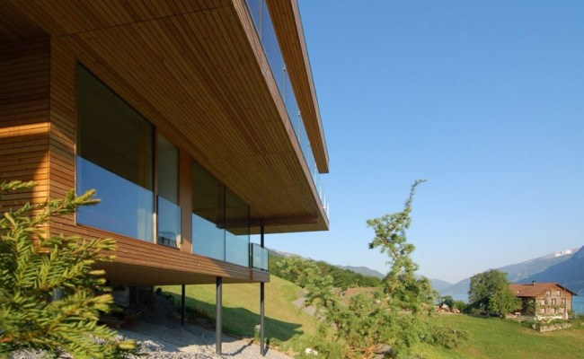 Simple But Elegant Wooden House With Lake View