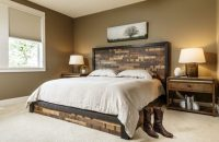 20 Beautiful Master Bedrooms with Wooden Headboards