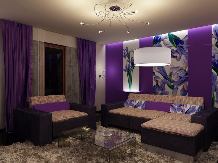purple living rooms room tv shelves design 20 beautiful ideas