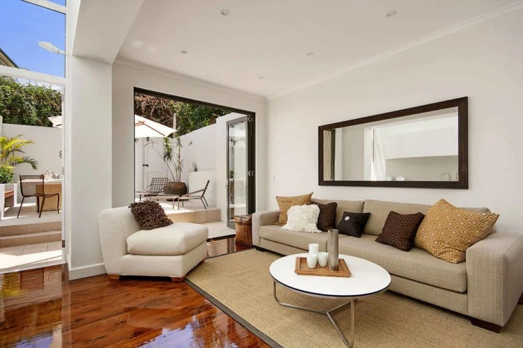 Mirror in living room design