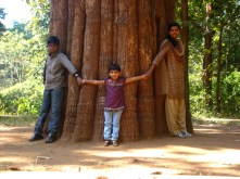 Me with niece & nephew around the teak