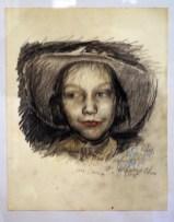 Nina (9 Jahre), Zeichnung von Wolfgang Petrick