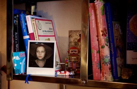 Polaroidfoto - Nina (9 Jahre) auf Fasching