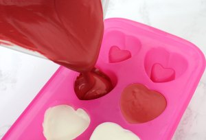 Candy Heart Shot Glasses made from delicious chocolate