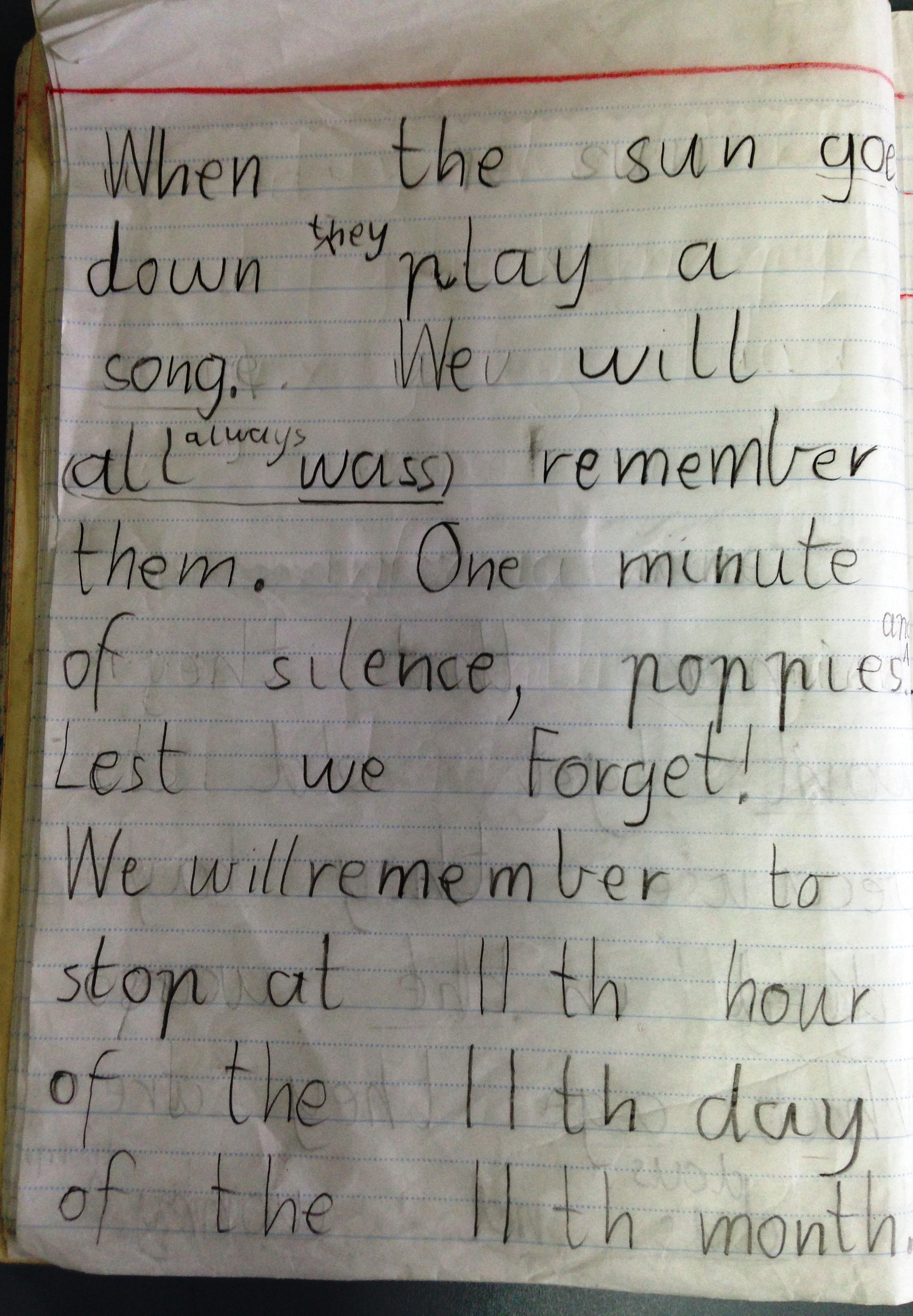 A Written Response To The Ode From For The Fallen By