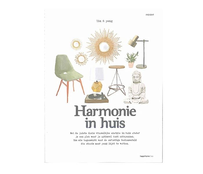 Harmonie in huis, artikel Happi.Home, Nina Elshof Feng Shui