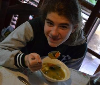 Una sopita con curry