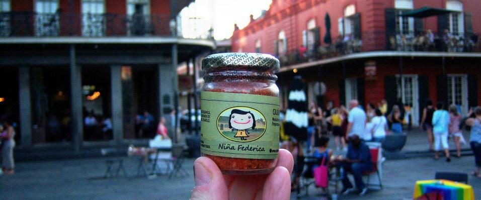 Niña Federica en Nueva Orleans